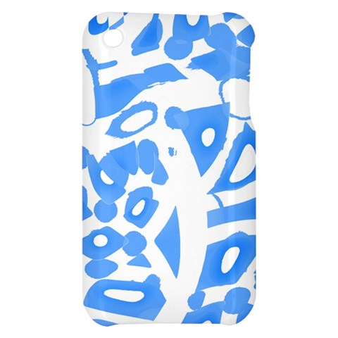 Blue summer design Apple iPhone 3G/3GS Hardshell Case