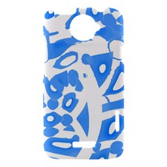 Blue summer design HTC One X Hardshell Case