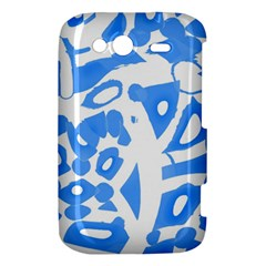 Blue summer design HTC Wildfire S A510e Hardshell Case