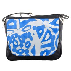 Blue summer design Messenger Bags