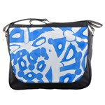 Blue summer design Messenger Bags Front