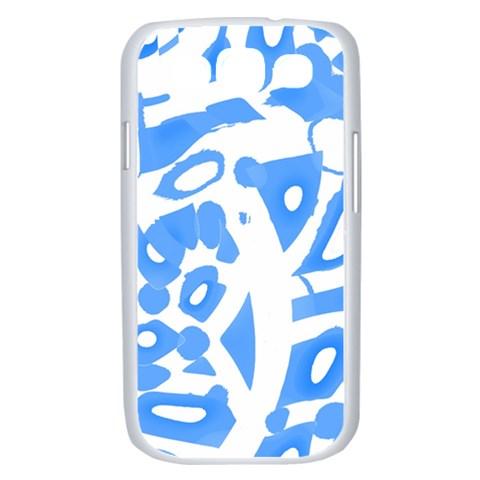 Blue summer design Samsung Galaxy S III Case (White)