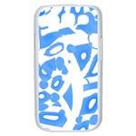 Blue summer design Samsung Galaxy S III Case (White) Front