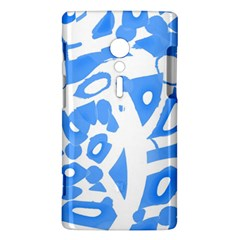 Blue summer design Sony Xperia ion