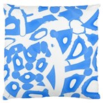 Blue summer design Large Cushion Case (Two Sides) Front