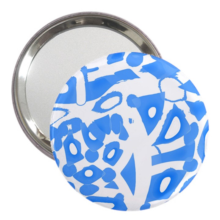 Blue summer design 3  Handbag Mirrors