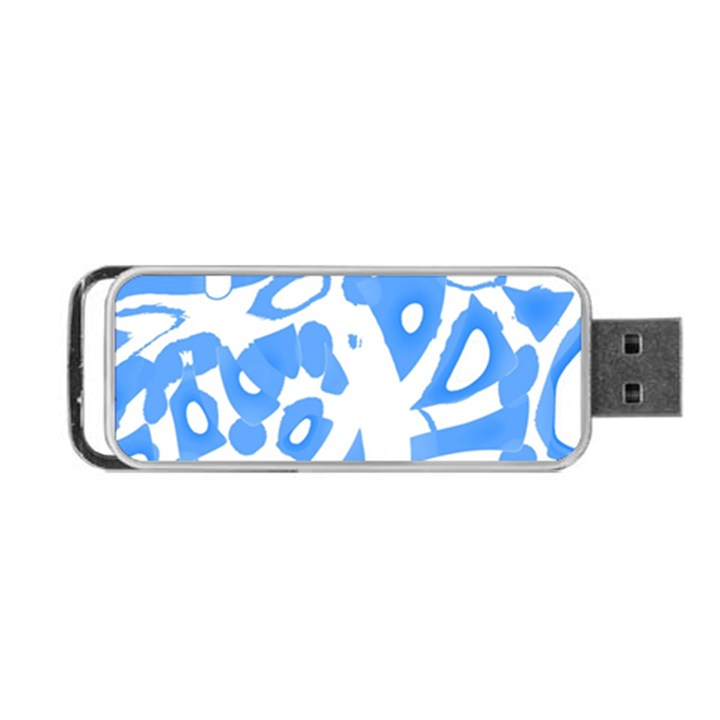 Blue summer design Portable USB Flash (One Side)
