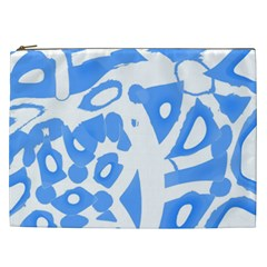Blue summer design Cosmetic Bag (XXL)