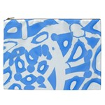Blue summer design Cosmetic Bag (XXL)  Front