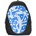 Blue summer design Backpack Bag Front