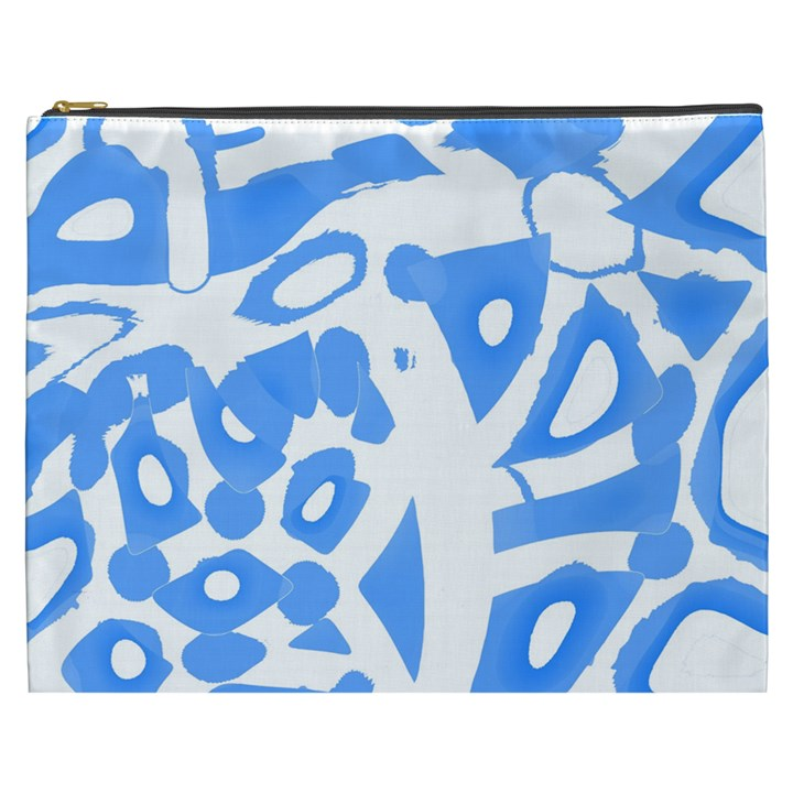 Blue summer design Cosmetic Bag (XXXL)