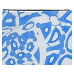 Blue summer design Cosmetic Bag (XXXL)  Back