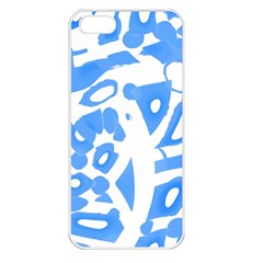 Blue summer design Apple iPhone 5 Seamless Case (White)