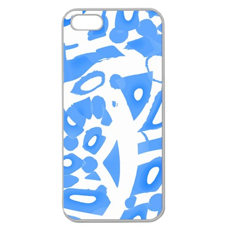 Blue summer design Apple Seamless iPhone 5 Case (Clear)