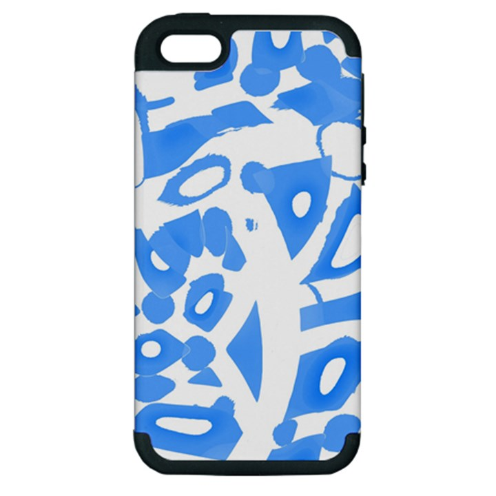 Blue summer design Apple iPhone 5 Hardshell Case (PC+Silicone)
