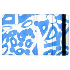 Blue summer design Apple iPad 3/4 Flip Case
