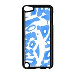 Blue summer design Apple iPod Touch 5 Case (Black) Front