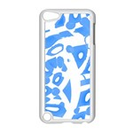Blue summer design Apple iPod Touch 5 Case (White) Front