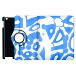 Blue summer design Apple iPad 3/4 Flip 360 Case Front