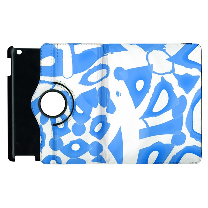 Blue summer design Apple iPad 3/4 Flip 360 Case