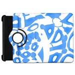 Blue summer design Kindle Fire HD Flip 360 Case Front