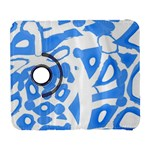 Blue summer design Samsung Galaxy S  III Flip 360 Case Front