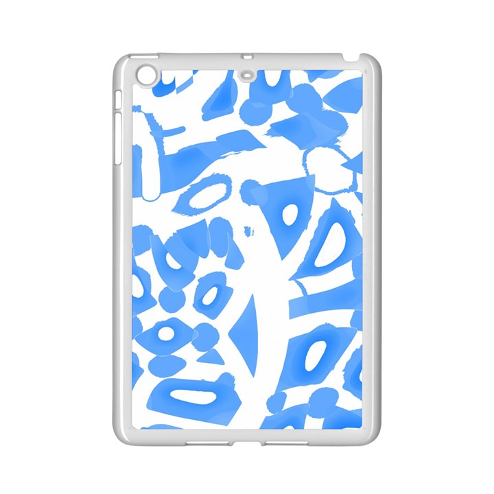 Blue summer design iPad Mini 2 Enamel Coated Cases