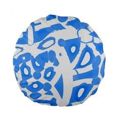 Blue summer design Standard 15  Premium Round Cushions