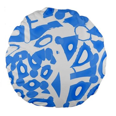 Blue summer design Large 18  Premium Round Cushions