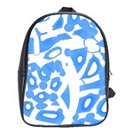 Blue summer design School Bags (XL)  Front