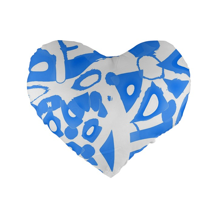 Blue summer design Standard 16  Premium Heart Shape Cushions