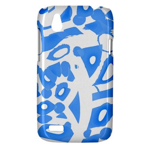 Blue summer design HTC Desire V (T328W) Hardshell Case