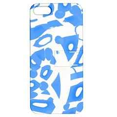 Blue Summer Design Apple Iphone 5 Hardshell Case With Stand