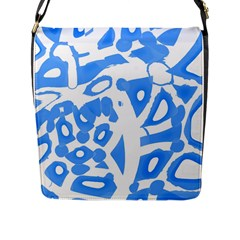 Blue summer design Flap Messenger Bag (L)
