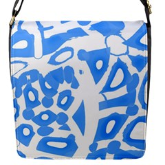 Blue summer design Flap Messenger Bag (S)