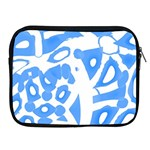 Blue summer design Apple iPad 2/3/4 Zipper Cases Front