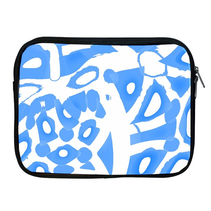 Blue summer design Apple iPad 2/3/4 Zipper Cases