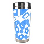 Blue summer design Stainless Steel Travel Tumblers Left