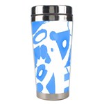 Blue summer design Stainless Steel Travel Tumblers Center