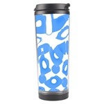 Blue summer design Travel Tumbler Left