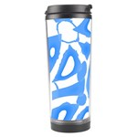 Blue summer design Travel Tumbler Right