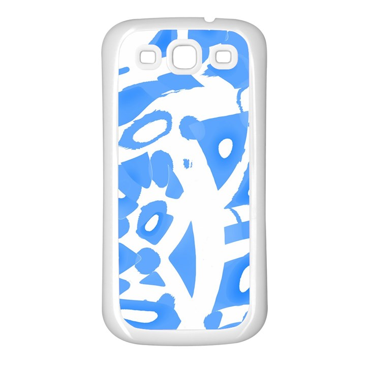 Blue summer design Samsung Galaxy S3 Back Case (White)