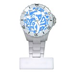 Blue summer design Plastic Nurses Watch Front