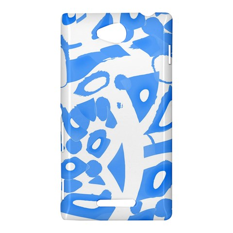 Blue summer design Sony Xperia C (S39H)