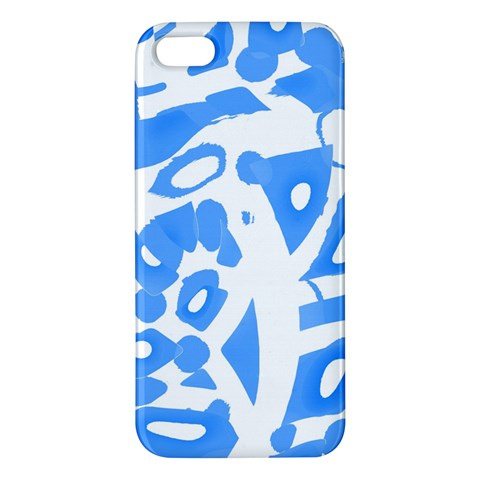 Blue summer design iPhone 5S/ SE Premium Hardshell Case