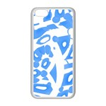 Blue summer design Apple iPhone 5C Seamless Case (White) Front