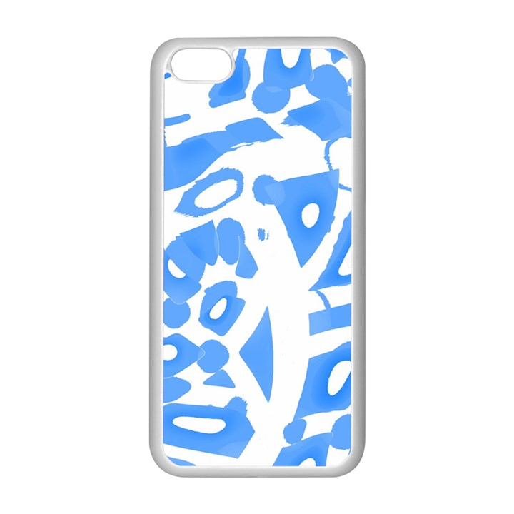 Blue summer design Apple iPhone 5C Seamless Case (White)