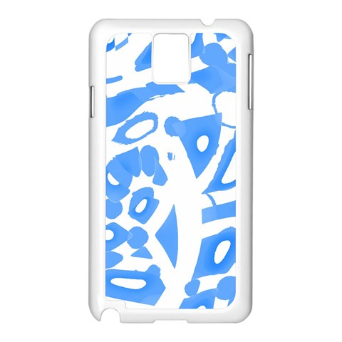 Blue summer design Samsung Galaxy Note 3 N9005 Case (White)