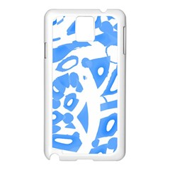 Blue Summer Design Samsung Galaxy Note 3 N9005 Case (white)