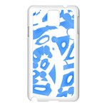 Blue summer design Samsung Galaxy Note 3 N9005 Case (White) Front